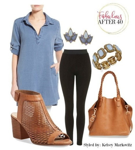 Best Long Tops To Wear With Leggings - Fabulous After 40 | Fashion Tips for Women | Scoop.it