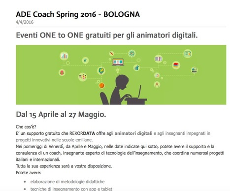 ADE Coach Spring 2016 - BOLOGNA | Il Tablet nell'Educazione | Scoop.it