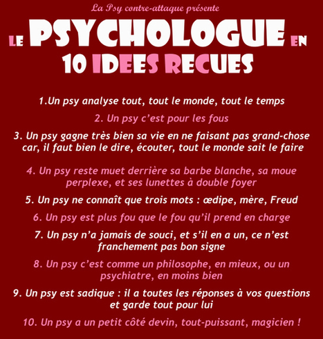 Gare aux idées reçues sur les psychologues ! | Psychologues | Scoop.it
