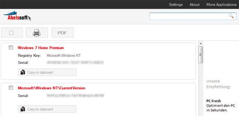 MyKeyFinder, una pequeña aplicación para Windows con la que recuperar nuestros números de serie | Recull diari | Scoop.it