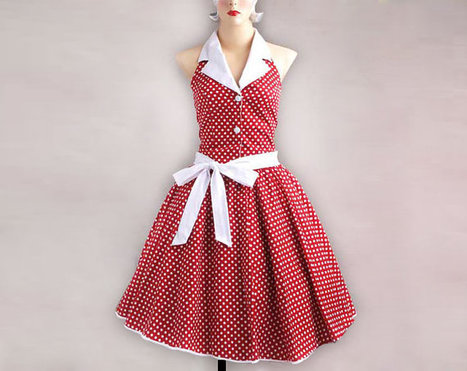 1950s Rockabilly Vintage Dress Red with White Polka dots | Vintage! | Scoop.it