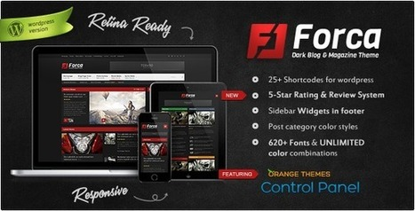 Forca - Responsive News/Magazine Theme (News / Editorial) Download | News | Scoop.it