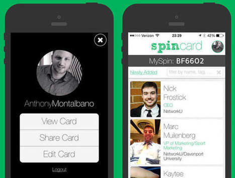 Spincard app is a high-tech update to the business card | Interface Usability and Interaction | Scoop.it