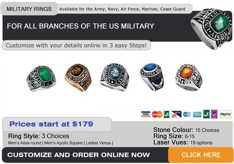 Military Service Rings for every branch of the Armed Forces   Military Gifts   Scoop.it