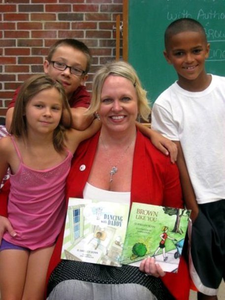 """Photo: """"Brown Like You"""" and """"Dancing with Daddy"""" are the first two in a planned series of 12 books by local author Shelley Dunn. The books are based on her experiences with her 10-year-old son Anth... 