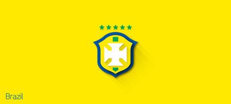 Flat Design Logos: 2014 FIFA World Cup Team Logos | Design Inspiration and Creative Ideas | Scoop.it
