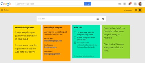Google Keep - Note taking app | Informática para la Escuela | Scoop.it