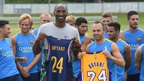 Kobe Bryant swaps shirts with Barcelona's Andrés Iniesta (video) - The Guardian | AC Affairs | Scoop.it