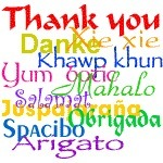 """Thank you"" in many languages 
