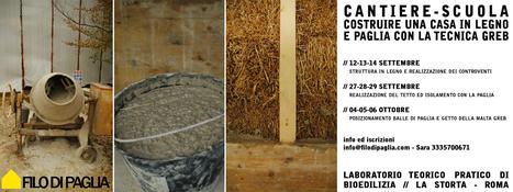 Cantiere scuola - costruire una casa in legno e paglia con la tecnica GREB » filodipaglia   costruire un edificio in paglia   Scoop.it