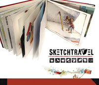 Sketchtravel - The original book will be auctioned to benefit an international charity. | Artifact Journals: Documenting the Artistic Process | Scoop.it