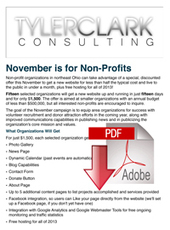 November is for Non-Profits! $1500 New Sites for 15 Lucky Organizations « Tyler Clark Consulting - Online marketing & leads, SEO, Social Media in Pittsburgh, Cleveland, Youngstown | Balanced Approach to the Nonprofit Sector | Scoop.it