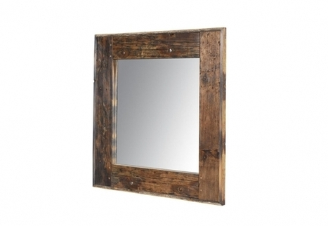 Axel Square mirror - Genuine Reclaimed Vintage Boat Wood Design Mirrors   Timothy Oulton   3D Product Design   Scoop.it