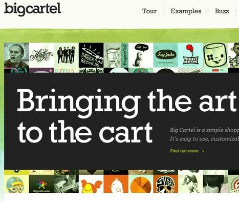 Big Cartel - Simple shopping cart for artists, designers, bands, record labels, jewelry, crafters | Artdictive Habits : Sustainable Lifestyle | Scoop.it