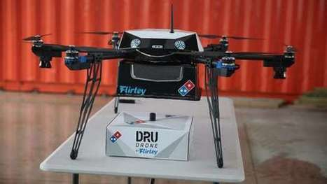 "Domino's drone gives new meaning to ""pie in the sky"" 