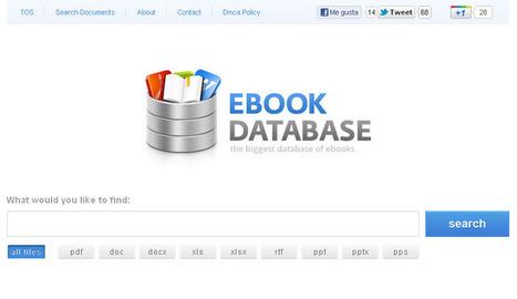 Más de 100 millones de ebooks gratuitos para descargar: Ebook Database | Una Zona Geek | Utilidades TIC para el aula | Scoop.it