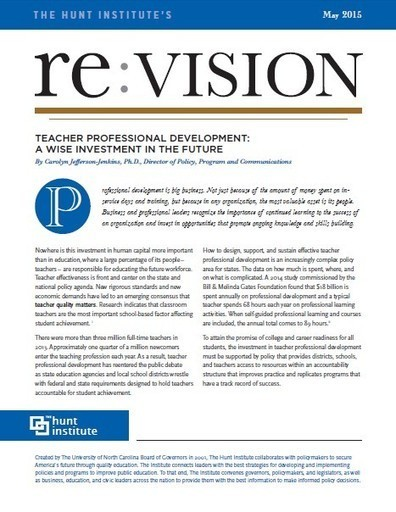 Teacher Professional Development: A Wise Investment in the Future - The Hunt Institute | Cool School Ideas | Scoop.it