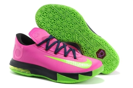 Nike Zoom KD 6 N7 Pink Green Black for sale | Cheap KD Shoes | Scoop.it