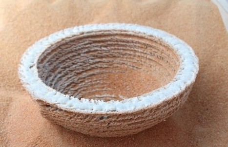 Markus Kayser's 3D Solar Sinter Prints on Sand - Could Replace Concrete | GreenProphet | digital culture | Scoop.it