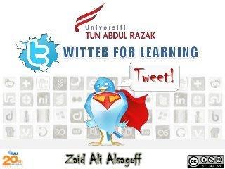 Blog de Enrique Rubio » Twitter for Learning | Educación a Distancia y TIC | Scoop.it