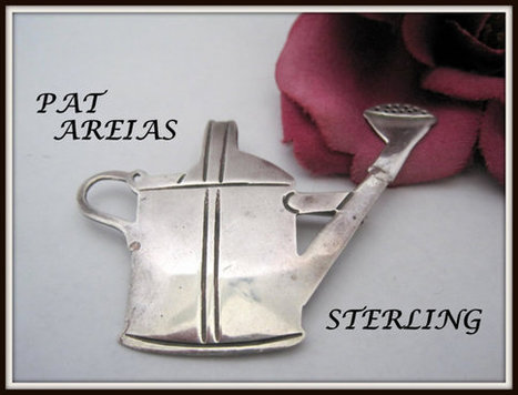 Pat Areias Sterling Silver Brooch Sprinkling Can Garden Pin | Vintage Jewelry and Other Vintage Treasures | Scoop.it