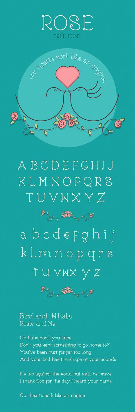 Rose - Free Font | Web Design Freebies | Scoop.it