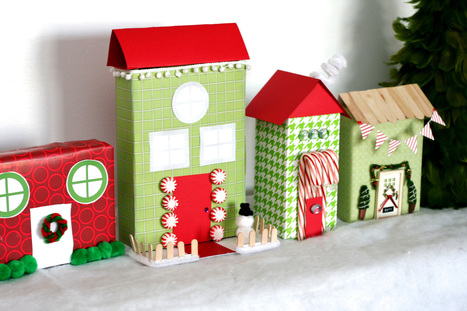 Recycled Christmas Village | Kids Craft | Scoop.it