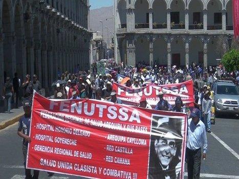 Arequipa: Trabajadores de Salud realizan protesta en Plaza de Armas | RPP NOTICIAS | Piero informa | Scoop.it