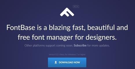 FontBase : un gestionnaire de polices de caractères gratuit - Blog du Modérateur | Boite à outils E-marketing | Scoop.it