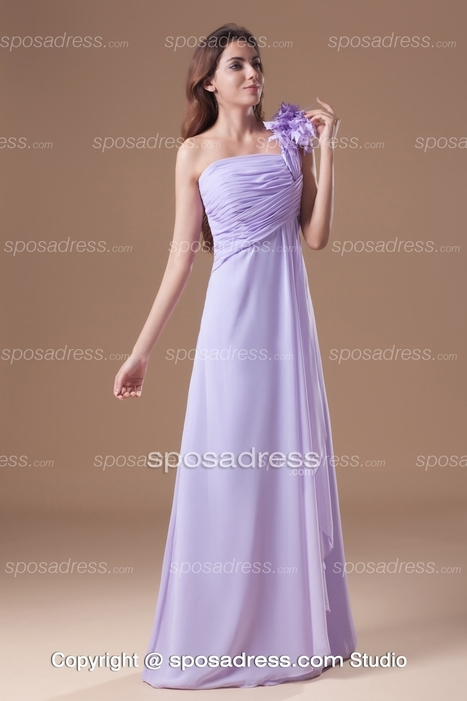 Chic Lavender A-line One Shoulder Chiffon Bridesmaid Dress - Sposadress.com | Fashion Dresses Online | Scoop.it