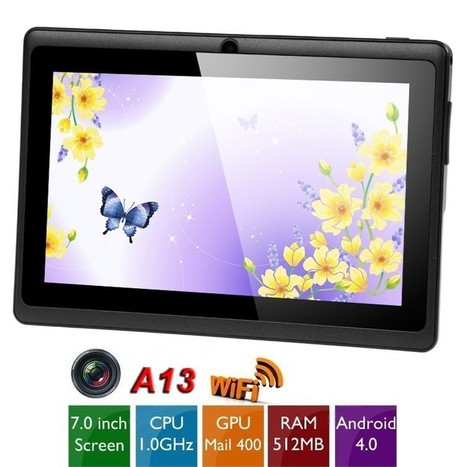 """7"""" Multi-touch Capacitive Screen Android 4.0 4GB Tablet PC /w Camera WiFi (CPU A13 1GHz RAM 512MB GPU Mali-400) - PayPal - Free Shipping 