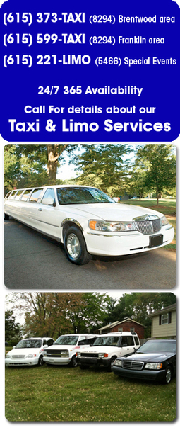 A-1 Taxi Brentwood, Franklin, Nashville, Spring Hill, and Surrounding | Brentwood Taxi | Scoop.it