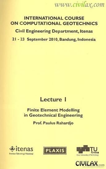 International Course on Computational Geotechnics ~ Civil ...   geotecnia   Scoop.it