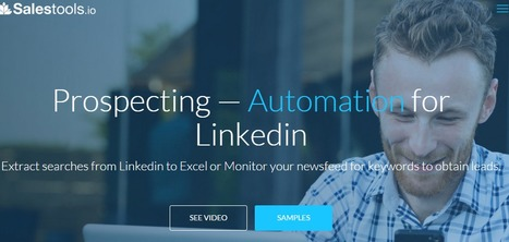Extract data from Linkedin to excel with Salestools.io | Linkedin for Business Marketing | Scoop.it