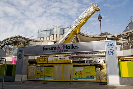 Fermeture provisoire de la porte Lescot, Photographies du projet des Halles | Projet les Halles | Scoop.it
