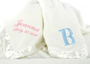 Ivory Personalized Satin Trim Blankets for Babies | Babies Shower Gifts | Scoop.it