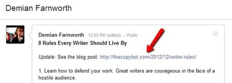 Seven Ways Writers Can Build Online Authority with Google+ | Writing Tips and Techniques | Scoop.it