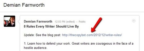 Seven Ways Writers Can Build Online Authority with Google+ | Google+ Marketing All News | Scoop.it