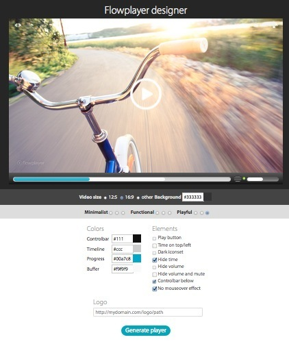 Designer Your Own Custom Branded Video Player with Flowplayer Designer | Scriveners' Trappings | Scoop.it
