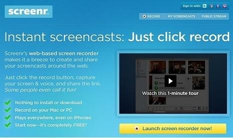 Screenr: Record Your Desktop For Making Video Presentations & Tutorials | Business & Productivity Tools | Scoop.it