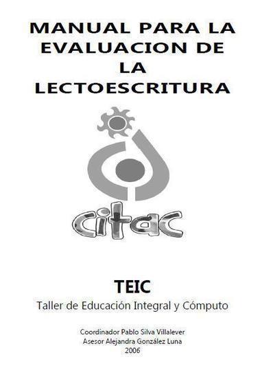 Manual para la Evaluación de la Lectoescritura | Educacion, ecologia y TIC | Scoop.it