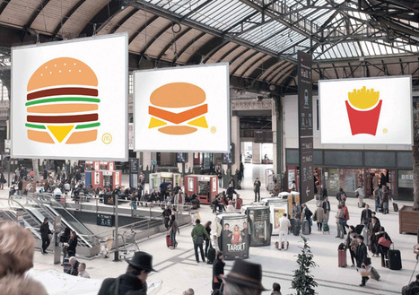 TBWA paris uses flattened illustrations for McDonald's minimal print campaign   Creative Feeds   Scoop.it