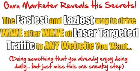 The Easiest and Laziest way to drive WAVE after WAVE of Laser Targeted Traffic to ANY Website You Want... | Personal Development & Healing | Scoop.it