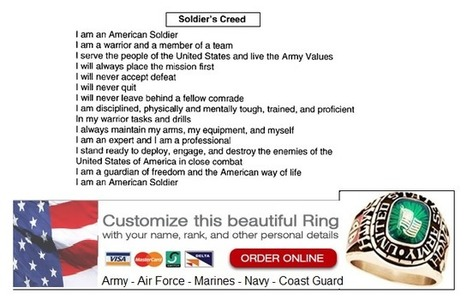 Army Creed - Army Soldiers Creed - US Army Creed | Military Wives | Scoop.it
