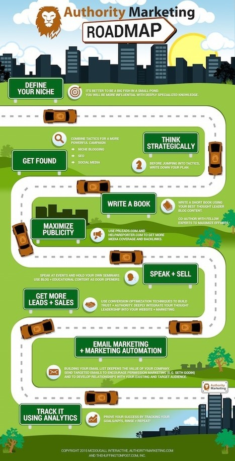 Stand Out With This 9-Step Authority Marketing Roadmap [Infographic] | EPIC Infographic | Scoop.it
