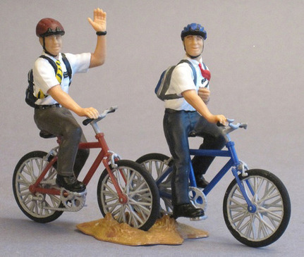 Missionay Action Figure Set, #5: Missionaries on Bicycles   Troy West's Radio Show Prep   Scoop.it