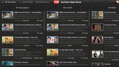 YouTube Video Deck Manages Your Video Subscriptions - Lifehacker - Lifehacker | Youtube Stats, Strategies + Tips | Scoop.it