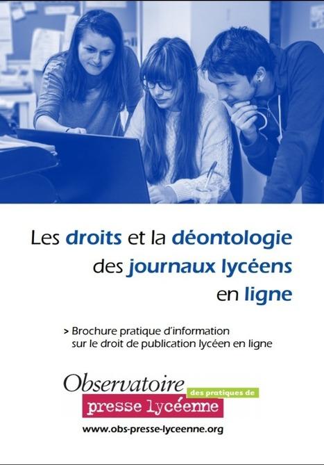 L'Observatoire des pratiques de presse lycéenne publie une nouvelle brochure sur son nouveau site internet | Educommunication | Scoop.it