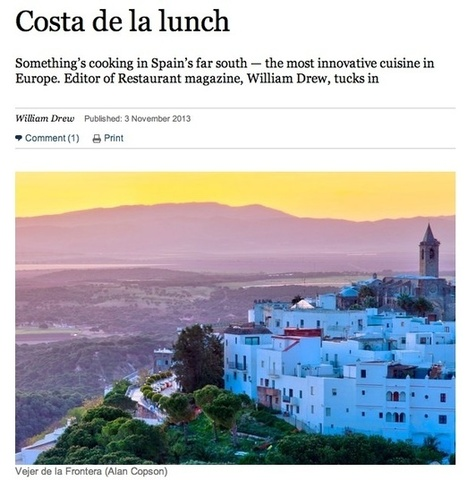 Costa de la Lunch - Vejer gastronomy in the Sunday Times | My Favourite Table | Scoop.it