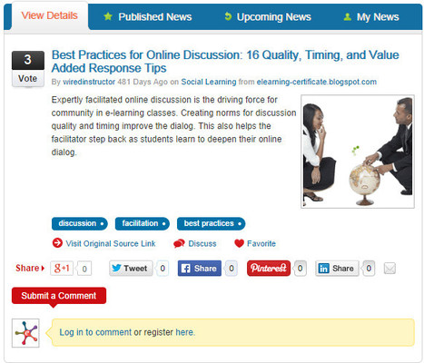 Best Practices for Online Discussion: 16 Quality, Timing, and Value Added Response Tips | e-Learning | Scoop.it
